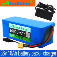 36V battery 500W 18650 lithium battery pack 36V 16AH With bms Electric bike battery with PVC case for electric bicycle +charger(China)