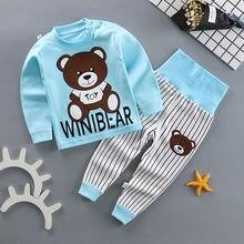 Весенне осенние комплекты хлопковой одежды из 2 предметов для