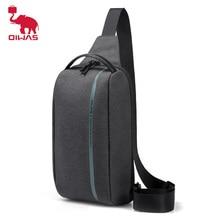 OIWAS Fashion Men Chest Bag Waterproof Short Trip Shoulder Chest Pack Male Waterproof Sling Messenger Bags Mens Crossbody Bag