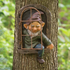Resin Naughty Gnome Dwarf Garden Decoration Statue Old Man Bark Ghost Face Fairy Ornament Easter Outdoor Creative Props Crafts