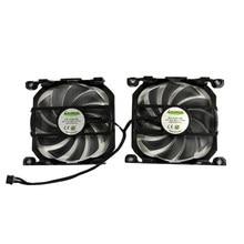 2 pçs/set Alternativa CF-12915S Fã GPU Para INNO3D GTX 750Ti/660 GTX660Ti GTX650Ti Impulso Termos Gráficos Resfriamento Cartão Repalcement