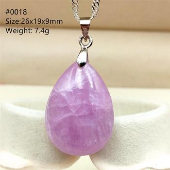 цена Genuine Natural Purple Kunzite Cat Eye Pendant Gemstone Women Men Fashion Water Drop Round Oval Rare Reiki Jewelry AAAAA онлайн в 2017 году