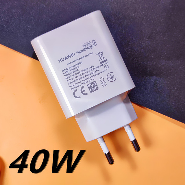 Original HUAWEI Fast Charger 40W 22.5W Supercharge Type C Cable For HUAWEI P30 P40 P10 P20 Pro lite Mate 9 10 Pro Mate 20 V20 5