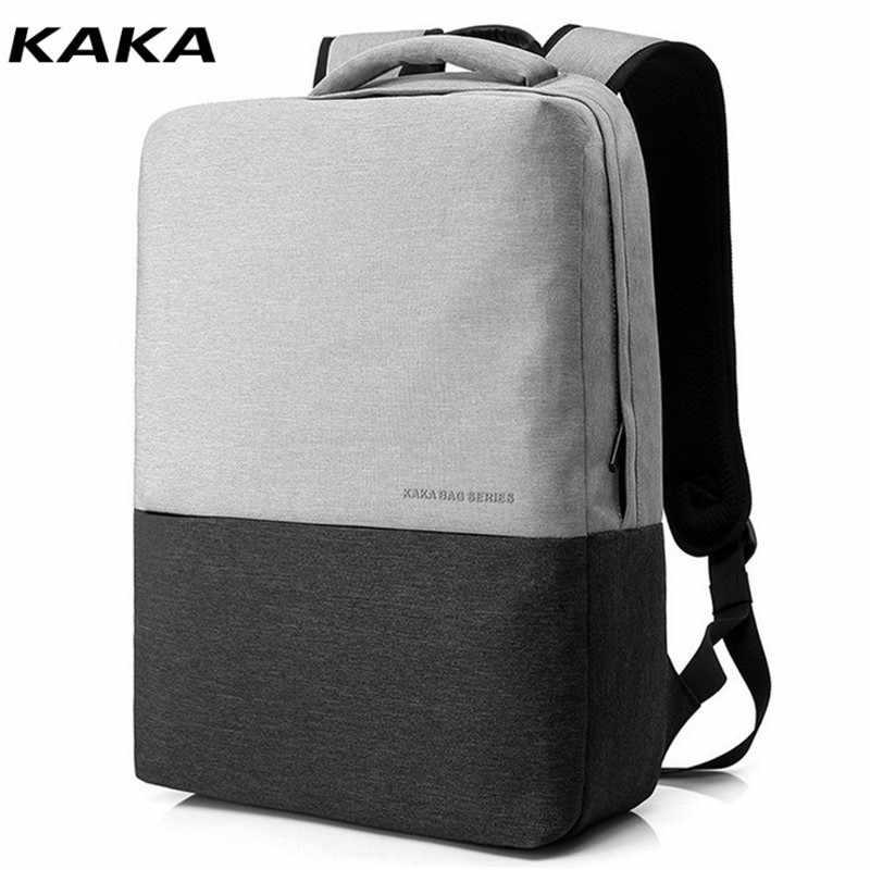 KAKA 2019 nam Lưng Mochila dành cho Laptop 15.6 Inch Máy Tính Xách Tay Túi Nam Trường Ba Lô Miễn Phí Vận Chuyển D155