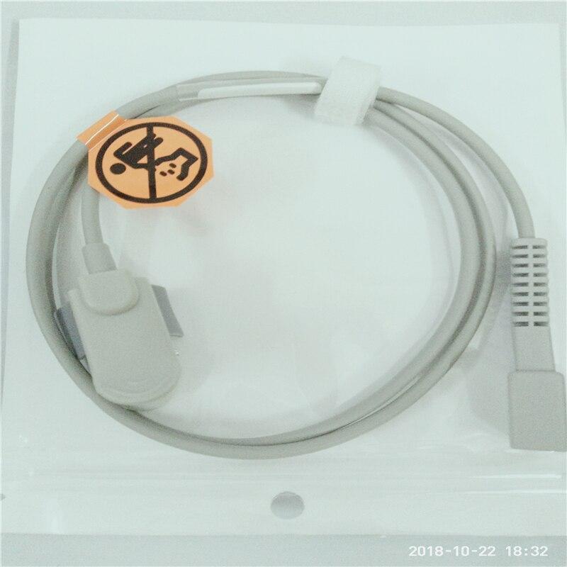 Совместимый для Nellcor DB7 контактный педиатрический палец Spo2 датчик Пульсоксиметр зонд, Spo2 датчик s датчик оксиметрии ТПУ 1 м