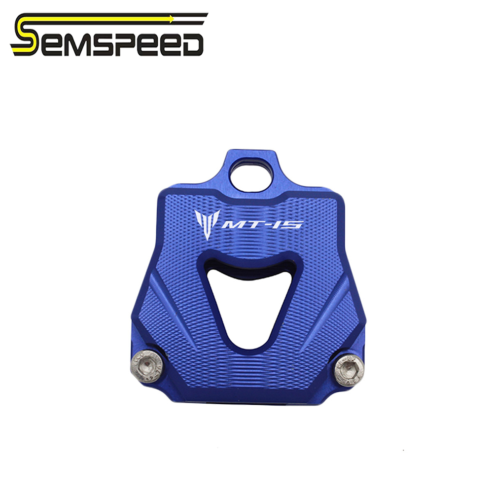 SEMSPEED For Yamaha YZF R15 V3 r 15 MT-15 MT15 2018 2019 2020 Motorcycle Key Cover Case Shell CNC logo MT-15 R15 Key Cap Holder