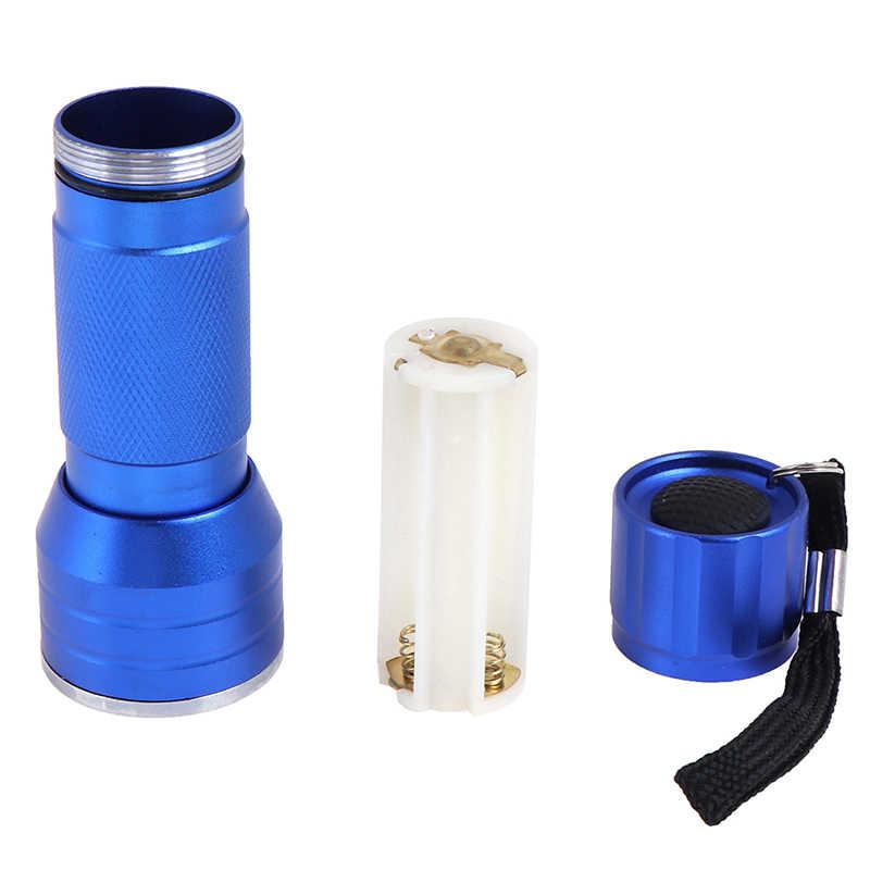 1PC wodoodporny niebieski 21 LED latarka uv przenośny detektor fluorescencyjny LED Light