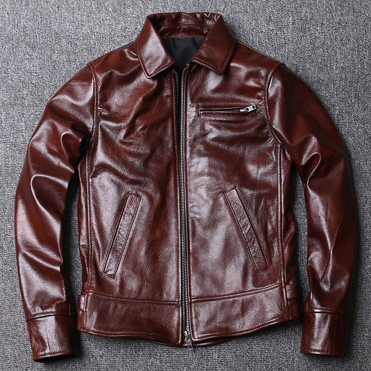 Free Shipping.2020 New Style Genuine Leather Jacket,casual Mens Leather Coat,quality Batik Cowhide Biker Outwear.Sales