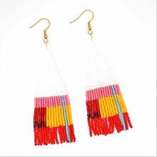 Go2boho Bohemian Earrings For Women MIYUKI Fringed Colorful Pendientes Boho Handmade Loom Beads Summer Fashion Jewelry