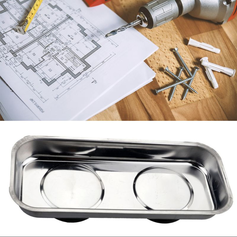 Square Magnetic Tray Sucker Stainless Steel Strong Permanent Magnet Bowl 19QB