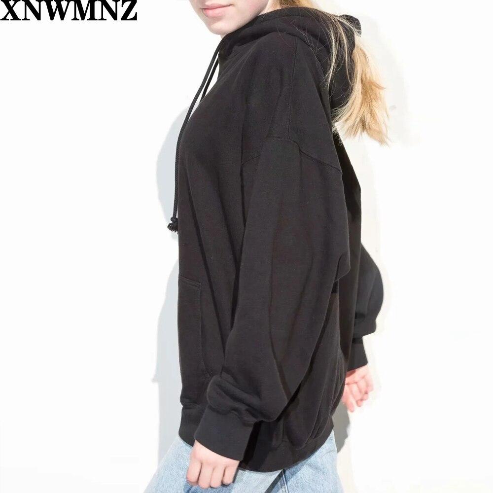 Купить xnwmnz za осенне зимняя женская хлопковая толстовка с вышивкой