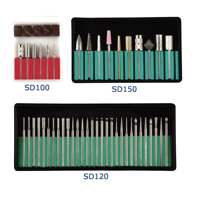 Diamond Bur Nail Kits Nail Burs Tools Set And Hot Sell Nail Short Cylinder Diamond Podiatry Bur,diameter 2.35mm (3/32