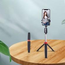 2020 3 w 1 nowy bezprzewodowy Bluetooth Selfie Stick wysuwany ręczny Monopod składany Mini statyw z pilotem migawki dla iPhone tanie tanio centechia ABS Stainless steel CN (pochodzenie) SMARTPHONES for iphone sumsang huawei xiaomi for iOS System + 4 3 Above Android System