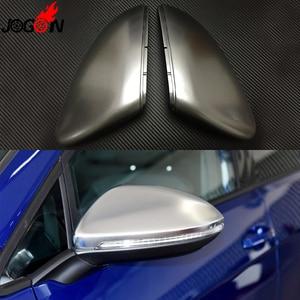 Image 4 - 2PC VW 골프 7 MK7 MK7.5 GTI R GTE GTD 2013   2019 Touran 2016 2017 ABS 측면 후면 미러 커버 교체 캡 셸