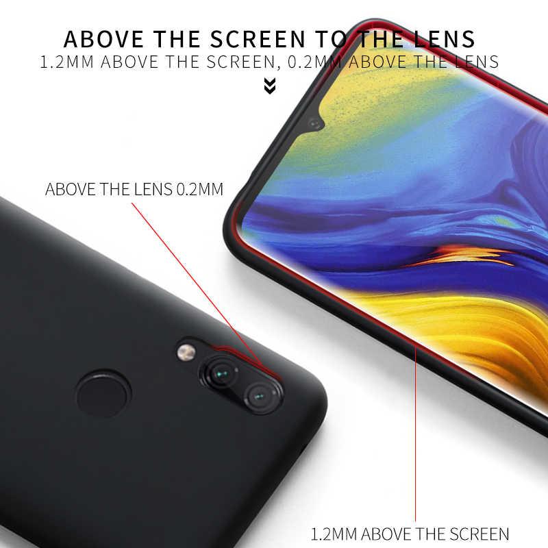Meizu Note 9 funda suave de silicona líquida media contraportada Original Meizu 16XS 16S M16XS Note 9 protección a prueba de golpes caso