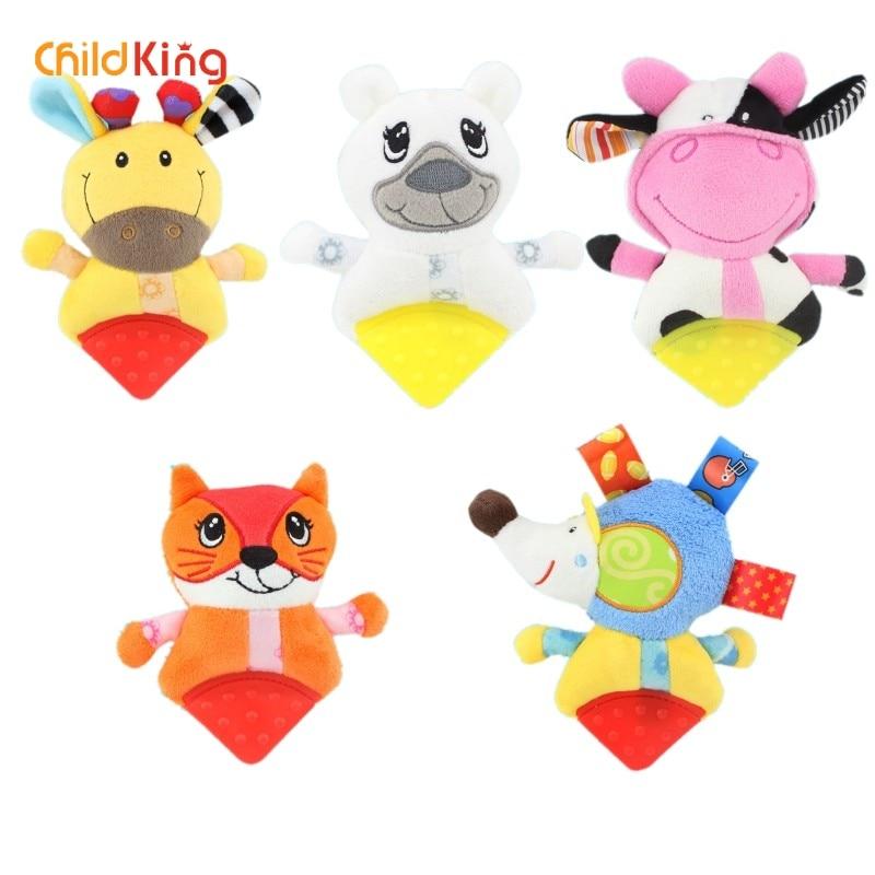ChildKing Newborn Baby Plush Stroller Toys  Rattles Mobiles Cartoon Animal Hanging Bell Educational   0-12 Months