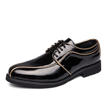 Black Designer Oxford Shoes For Men Wedding Leather Italy Pointed Toe Mens Dress 2019 Sapato 3#15/15D50