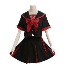 Brdwn Cardcaptor Sakura Girls Kinomoto Black Magic Circle Cosplay Costumes JK School Uniform Student Clothes Sailor Suit
