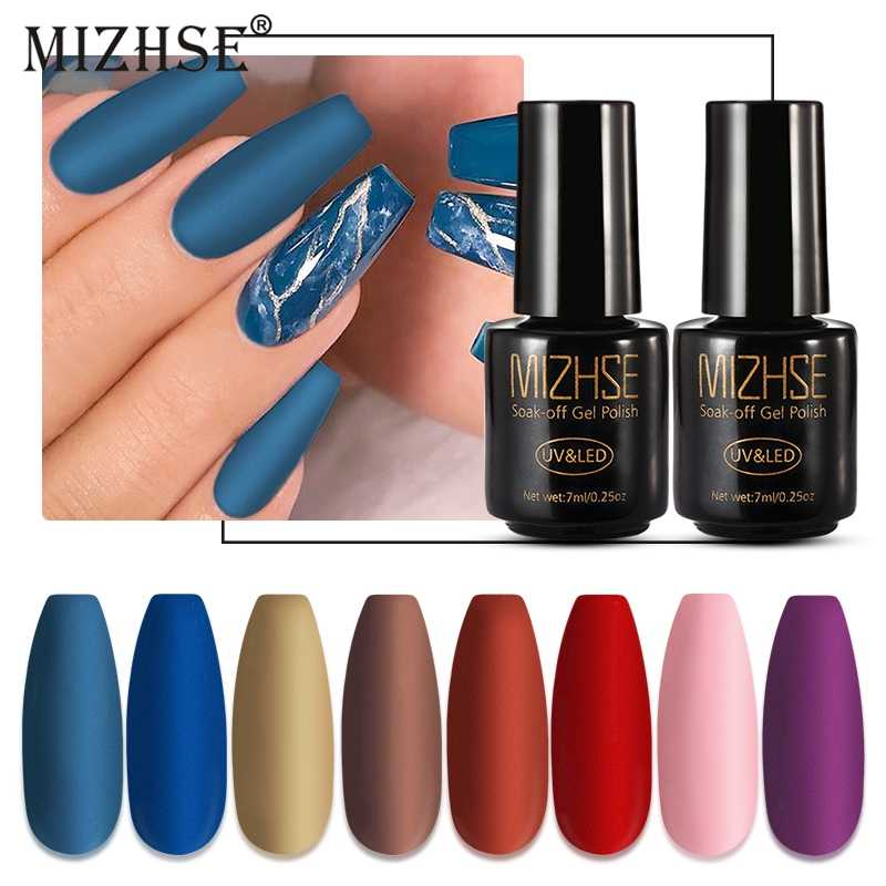 Mizhse Matte Top Coat Primer Kleur Nagel Gel Polish Uv Gel Nail Art Varnish Hybrid Soak Off Gel Lak Verf voor Nagels Manicure
