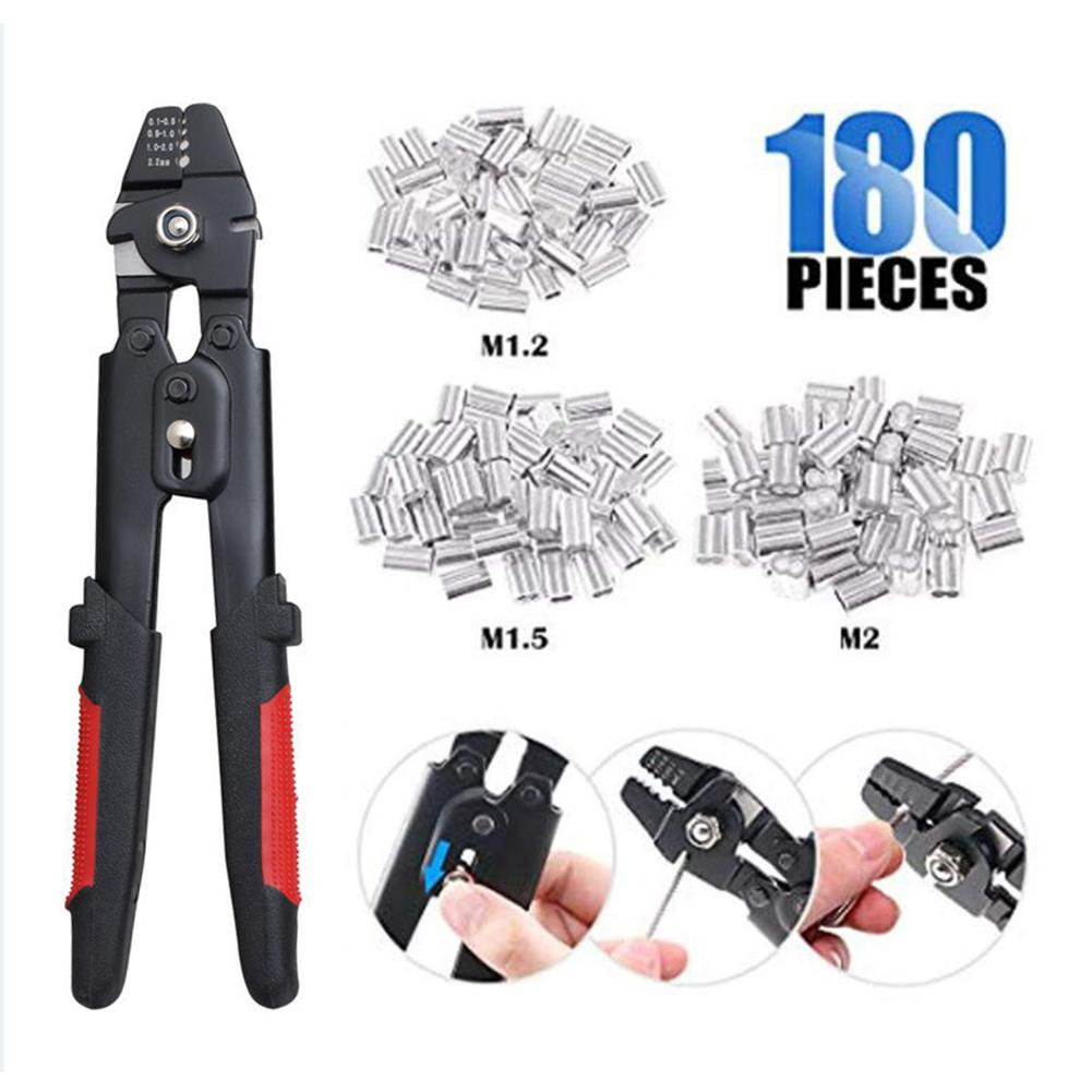 Up Rope Pliers Ferrule Double 2mm 1 Crimping Crimping 5 2mm Fishing 2 Cylinder 1 Wire 2 Aluminum Crimper 150pcs Swager To Tool