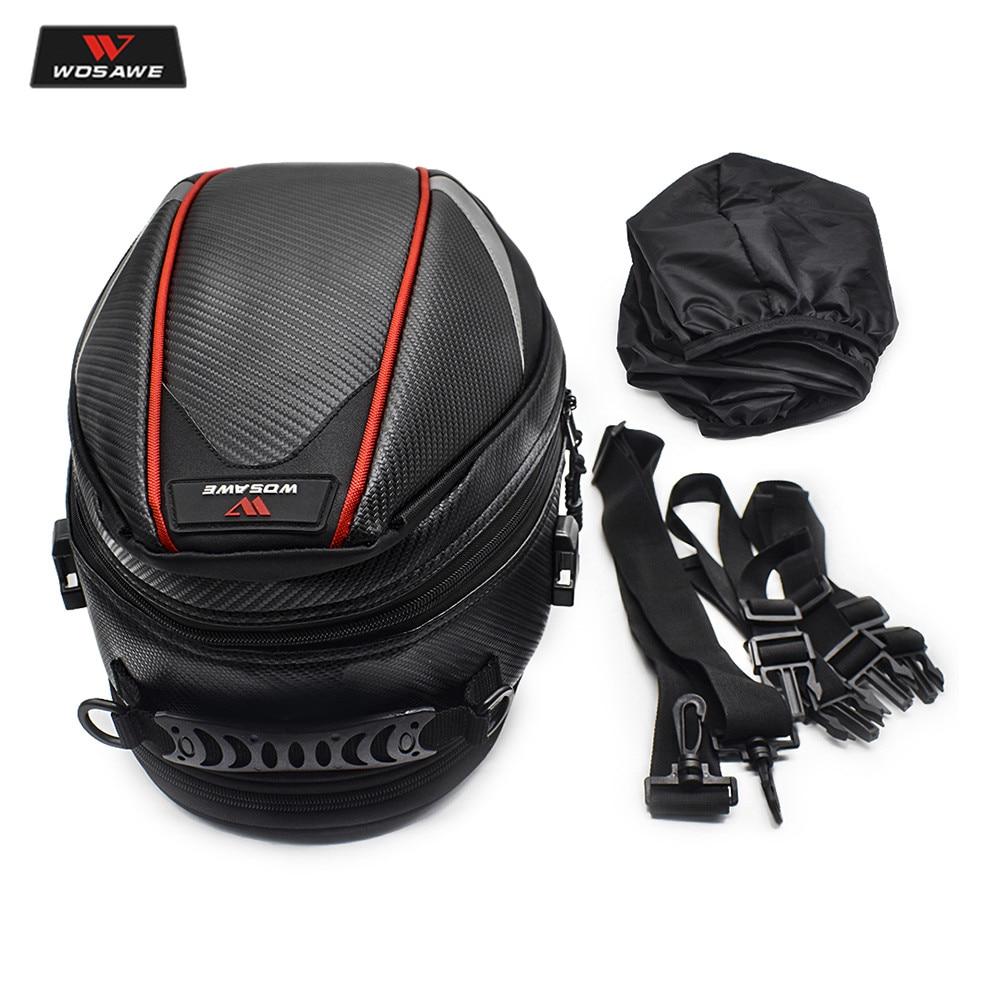 16-21L Motorcycle Tail Bag Luggage Moto Saddle Bag Waterproof Tank Bag Motocross Motorbike Shoulder Bag Rear Seat Trunk Backpack