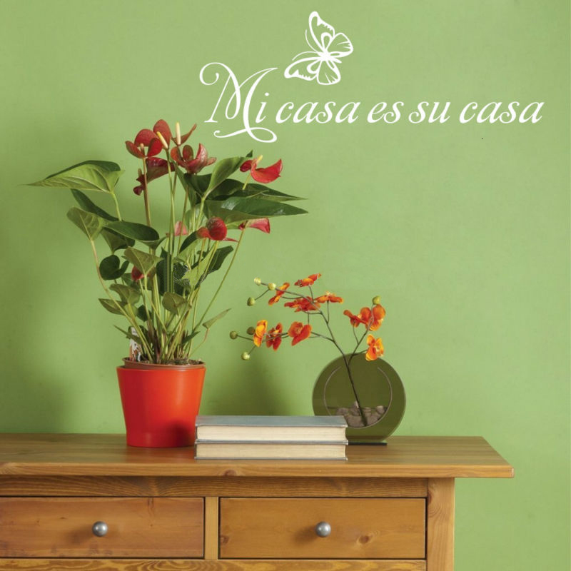 Mi Casa Es Su Casa Spanish Vinyl Decal Wall Sticker Words Lettering Letters