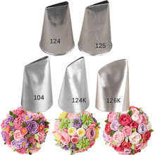 1-9 pces grandes bicos de creme de flor decorando dicas de tubulação fondant confeitaria pastelaria bico tudo para ferramentas de bolo de confeiteiro