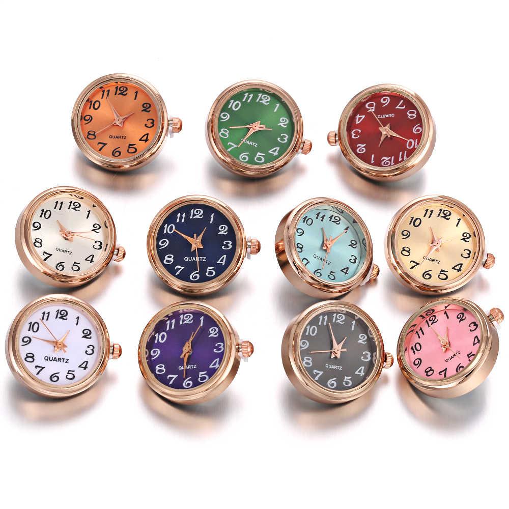 1PCS רוז זהב כסף צבע זכוכית שעון הצמד כפתור להחלפה תכשיטי להחלפה 18mm הצמד כפתורי מצליפה צמיד