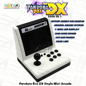 Pandora Box DX mini arcade 3000 in 1 single bartop Can Save game progress support FBA MAME PS1 SFC/SNES MD game 3D Mortal Kombat