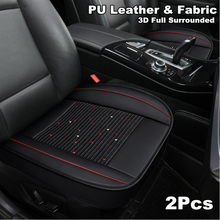 2Pcs Car front Seat Cover Protective Cushion 3D Full Surrounded four seasons general Black Flax Universal sofa cushion four seasons universal european non slip cushion linen sofa towel