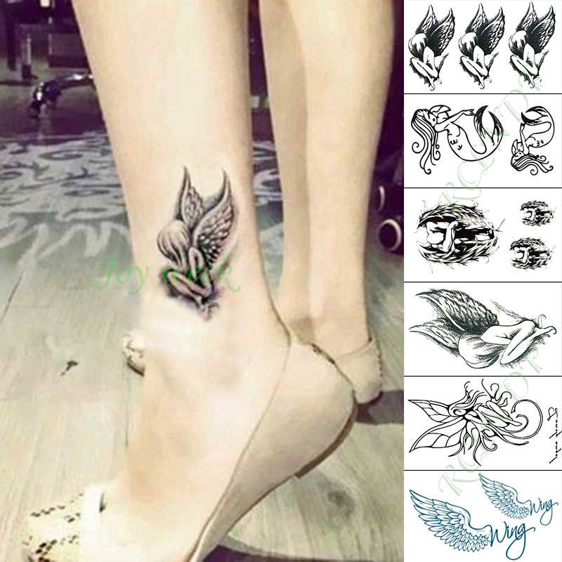 Tahan Air Stiker Tato Sementara Malaikat Elf Putri Duyung Allah Palsu Tatto Tangan Lengan Kaki Flash Tato Untuk Anak Gadis Pria Wanita Aliexpress