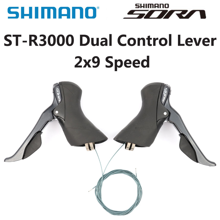 SHIMANO SORA ST R3000 ST-R3000 Dual Control Lever 2x9 Speed ST-R3000 Derailleur Road BIKE R3000 Shifter 18 speed Bicycle Parts
