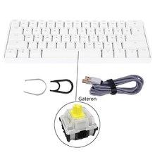 Портативная 61 клавиатура механическая gateron оптические переключатели