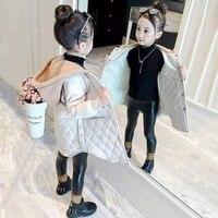 Зимняя Детская куртка для девочек, хлопковая утепленная верхняя одежда, ветрозащитные куртки, парки с капюшоном для девочек 3, 4, 5, 6, 7, 8, 9, 10, 11,...