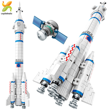904PCS Space Aviation Manned Rocket Building Blocks Creator City Aerospace Model Astronaut figure Bricks Toys For Children space station saturn v rocket building blocks city shuttle launch center atellite astronaut figure bricks set children toys gift