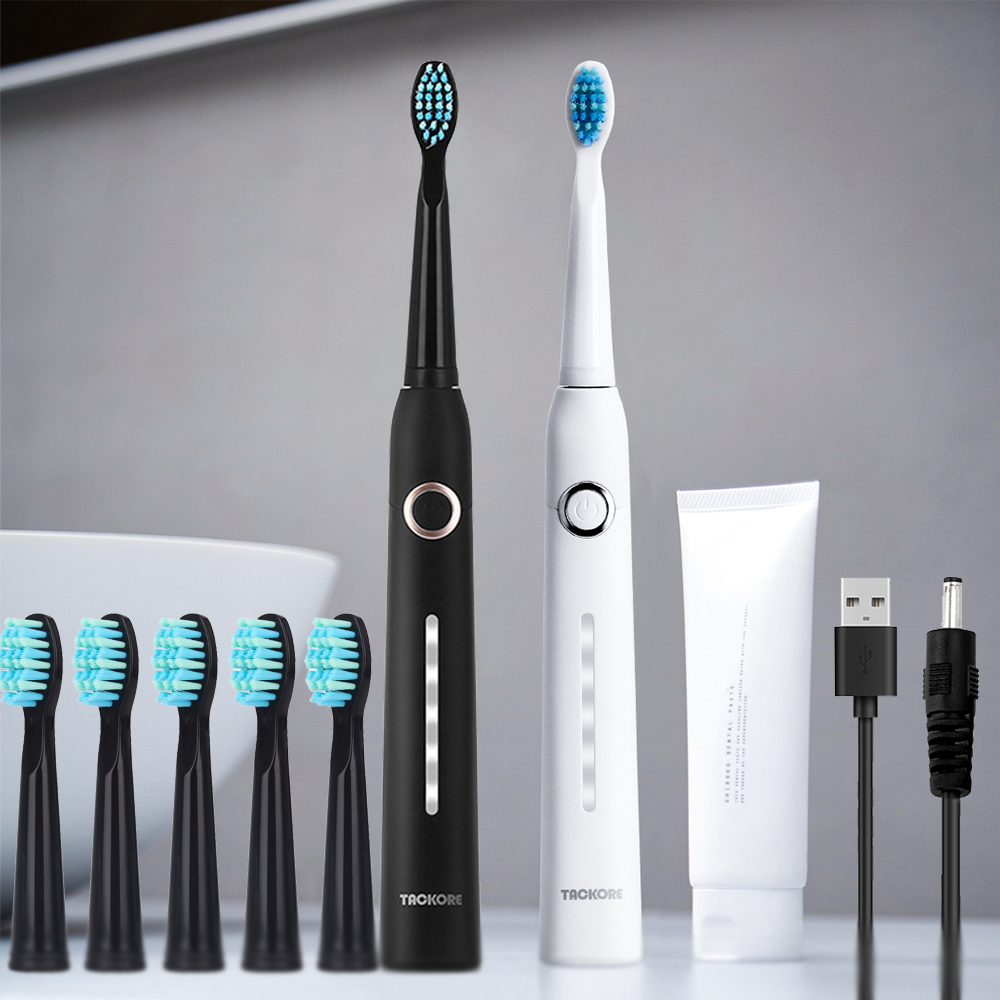 U1 Ultrasonic Electric Toothbrush Replacement Heads USB Rechargeable Sonic Electroic Toothbrush Timer Tooth Brush Oral Hygiene image