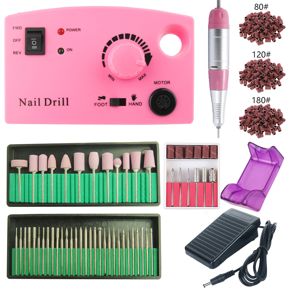 35000 RPM Electric Nail Drill Machine Kit Manicure Pedicure Tip Polishing File Strong Nail Drill Equipment Gel Remover Nail Set