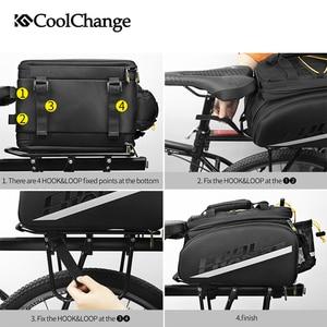 Image 5 - CoolChange su geçirmez bisiklet çantası 35L çok fonksiyonlu taşınabilir bisiklet arka koltuk kuyruk çantası bisiklet çantası omuz çantası aksesuarları