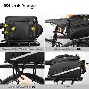 Image 5 - Coolchange saco de bicicleta à prova d35água 35l multifuncional portátil ciclismo traseiro saco da cauda bolsa ombro acessórios
