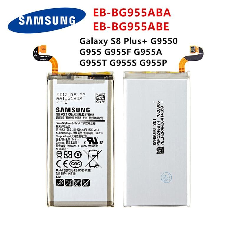 SAMSUNG Orginal EB-BG955ABA EB-BG955ABE 3500mAh Battery For Samsung Galaxy S8 Plus+ G9550 G955 G955F G955A G955T G955S G955P