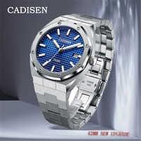 CADISEN-relojes para hombre, de pulsera, mecánico, resistente al agua, de 42MM, masculino