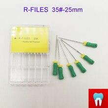 6 шт. 35#25 мм зубные ПроТейпер файлы корневого канала стоматолога материалы Стоматологические инструменты ручного использования из нержавеющей стали R файлы
