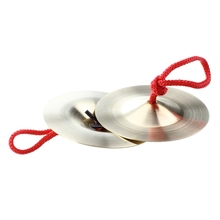 Pair Musical Instrument Durable Brass Cymbals Percussion цена