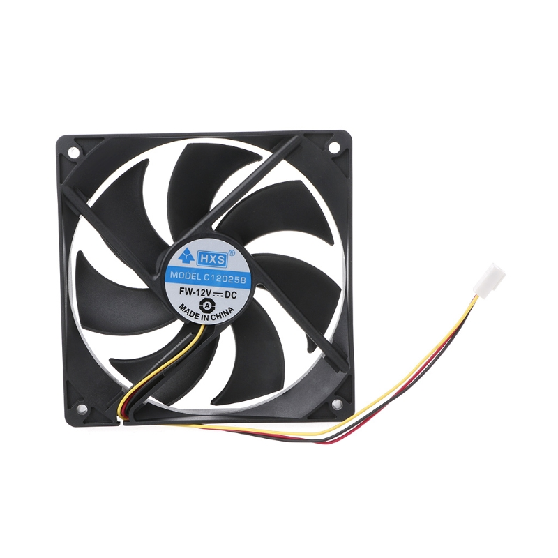 2019 New 120x120x25mm DC 12V 0.15A 3 Pin 7-Blade Computer Case Cooling Fan Cooler 12025 10166