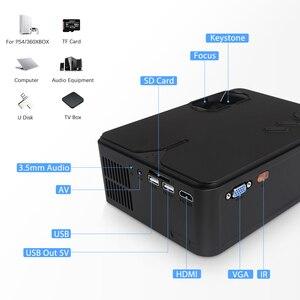 Image 5 - Rigal RD813ミニプロジェクター1280 × 720 1080p wifiマルチスクリーンプロジェクターホームシアターproyector 3D映画hdプロジェクターサポート1080p