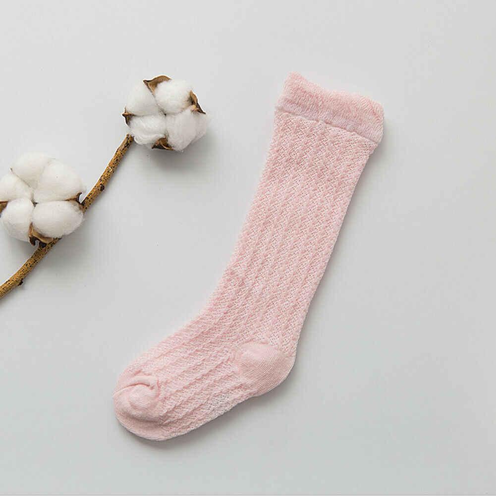 2019 bebé medias lindo bebé niño de niña de bebé caliente calentadores de la pierna Color caramelo sólido rodilla largo medias