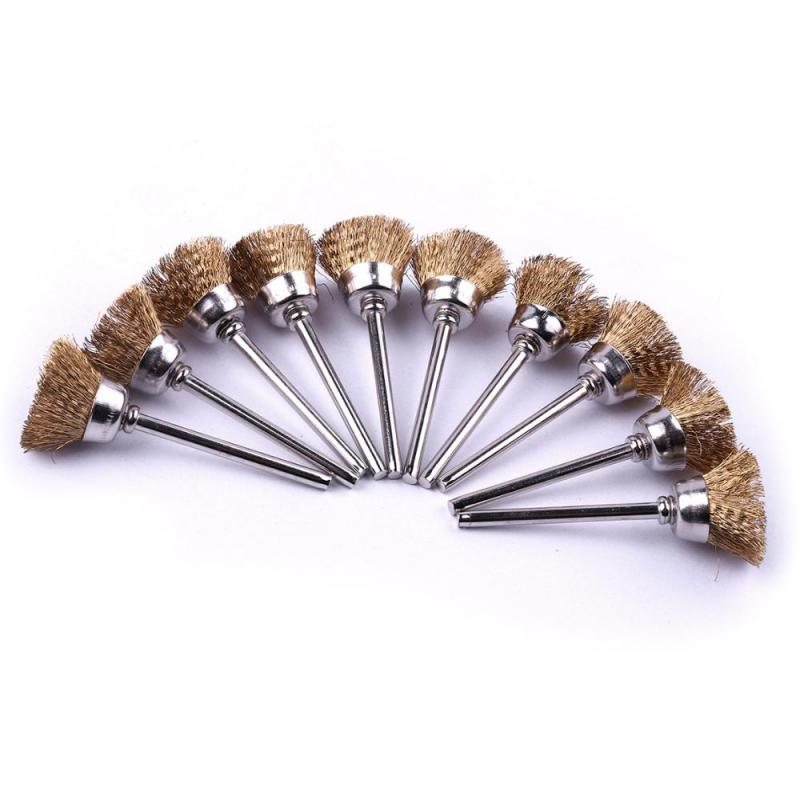 100PCS Brass Wire Brush Rotary Dremel Accessories For Dremel Rotary Tools Hand Drill Cleaning Brushes Tools