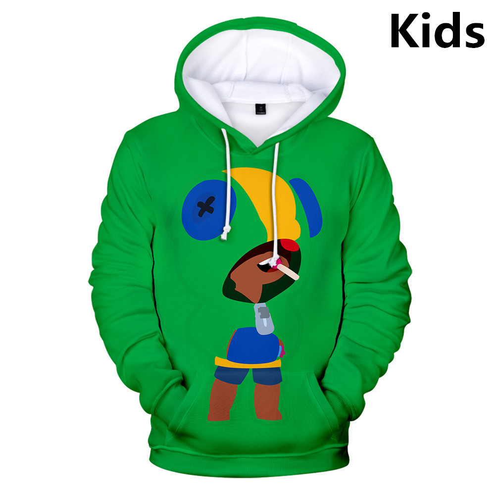 Hoodies Sweatshirt Jacket Harajuku Brawl Stars 3D Girls Autumn Boys Winter Kids 2-To-13-Years