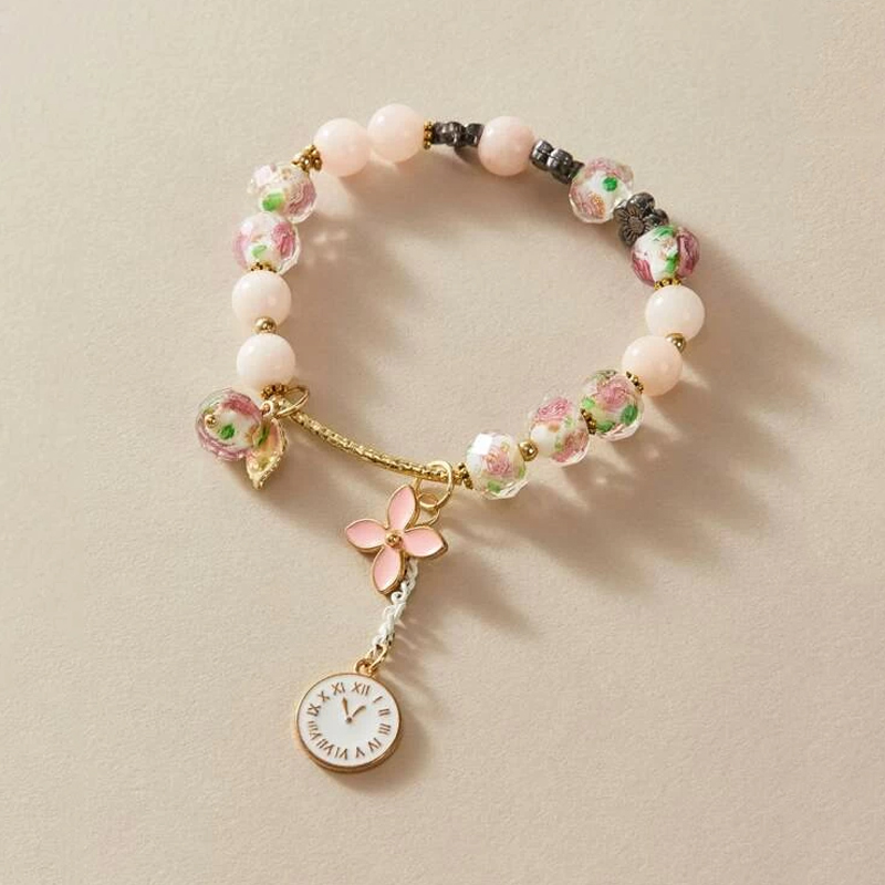 Personality Charm Pandora Bracelet for Women Accessories Multicolor Beads Watch Flower Gold Luxury Bracelets Trending Products