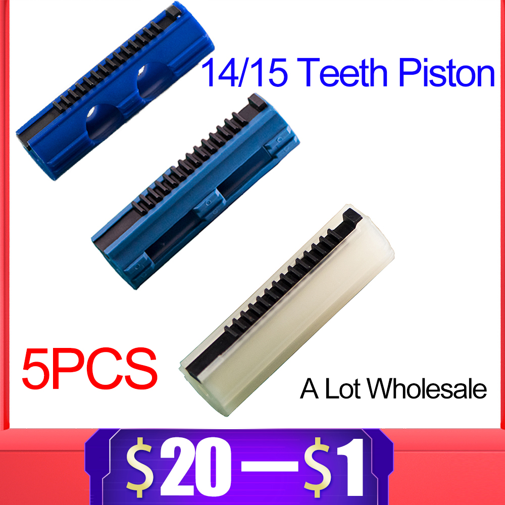 5PCS 14/15 Ladder Teeth Reinforced Carbon Piston Plastic Full Steel For Airsoft AEG Gel Blaster M4 JinMing Paintball Accessories
